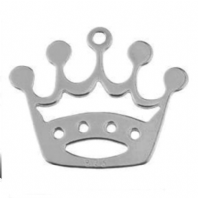 Sterling Silver 16x14mm Crown Charm